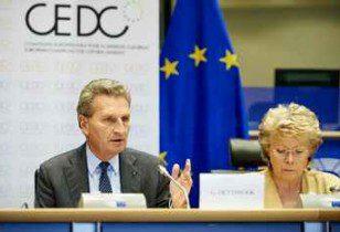 Commissionner  OETTINGER and Viviane REDING MEP