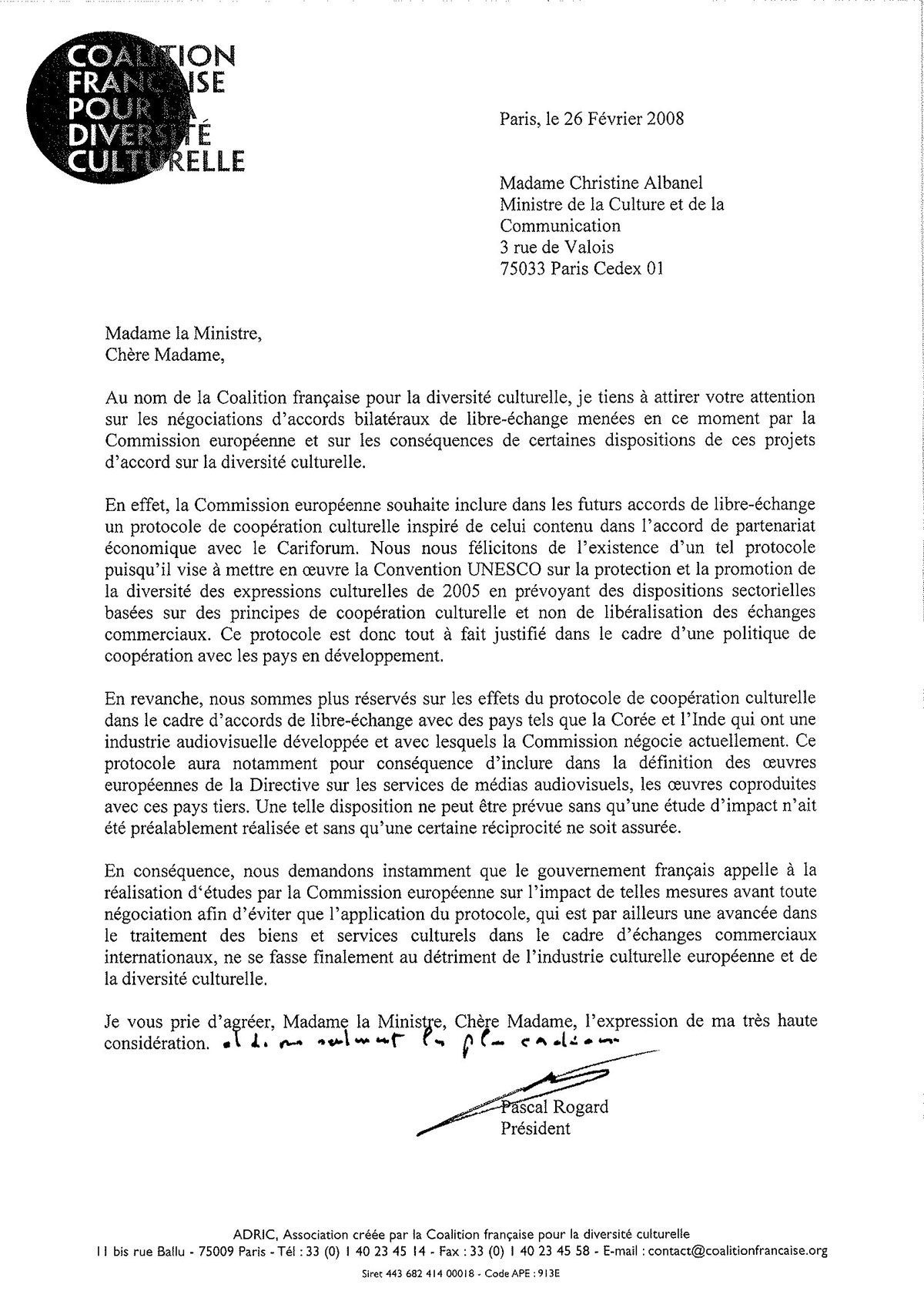 A Letter French Coalition